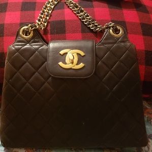 Authentic Vintage Chanel Lambskin Double Chain